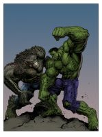#Hulk vs. Abomination by LiamSharp