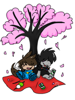 ::Hanami Time w/ Yuki and Karas:: by BKcrazies0