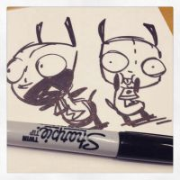 Invader Zim #1 In Stores! by DIN0LICH
