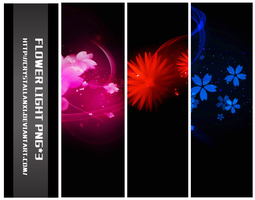 FLOWER LIGHT PNG*3 by Crystallanxi