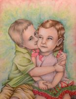 Alex and Avrie (My nephew and neice) by kimberly-castello