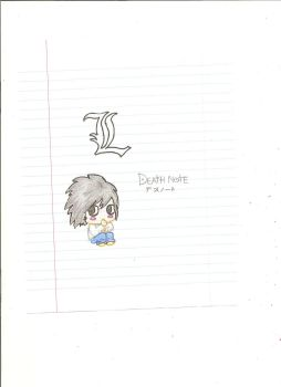 Chibi L Fron Death Note by Angellimes
