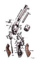 Exploded Gun by SalgoodSam