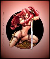red sonja colour by dypsomaniart