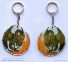 Fire Breathing Dragon Keychain by Strecno