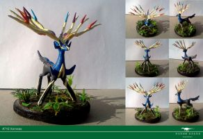 Xerneas sculpture by Vitor-Silva