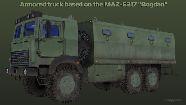 WIP Armored MAZ 6317  [2] by S-a-p-p-e-R