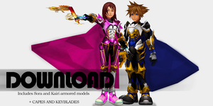 {Request} Armored Sora and Kairi - DL by SnowEmbrace