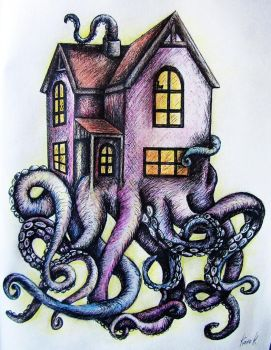 octopus time by KateHubar