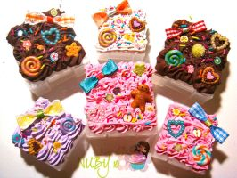Mini Cake boxes by colourful-blossom