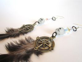 Pirate Feather Earrings by MammaShaClothing
