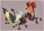 Thunder and Fire Fang - Larxel day 2.0 by Arcticwaters