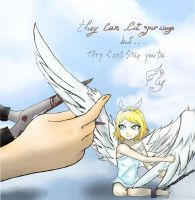 they can cut my wings , but... by Bubachan-desu