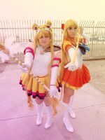 Sailor Moon - Moon and Venus by CherryMemories