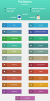 Flat Buttons ( Web Pack ) by andu28