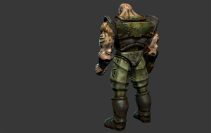 Quake 2 Infantry HD Mudbox Model Render by s13n1