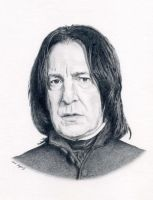 Snape portrait by artistic-dream