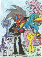 evily jr and the my little pony girls by shawnventura