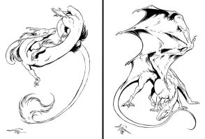 Dragons of Wind and Fire by Paperiapina