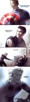 AvengersAOU: Shield (SPOILERs!) by DarkLitria