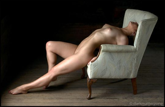 Nude With Chair 1 by darkmatterzone