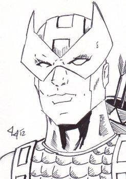 Hawkeye - ACEO for sale by Jason-Lee-Johnson