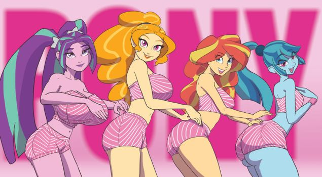 BABSCon 2017 Preview: Dazzlings + Sunset by moronsonofboron