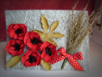 Poppies card by Coralqueen