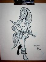 SKETCH 10 - Lady Liberty by justicefrog