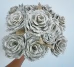 bouquet of paper roses by Vorona-hm