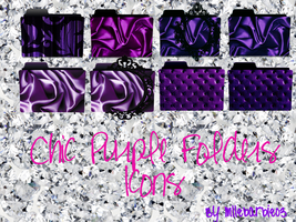 Chic purple folders icons by mllebarbie03