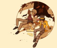DEM: Lupin, Gavroche, and Montparnasse by student-yuuto