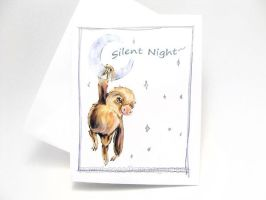 Silent Night Sloth Card by sobeyondthis
