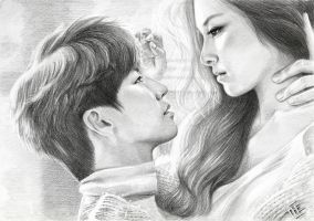 Song Jae Rim and Kim So Eun by THEartistTHE