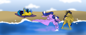 Family Fun At The Beach by EmpressOfDestruction