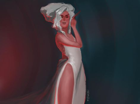 red and white fashion by mehidart