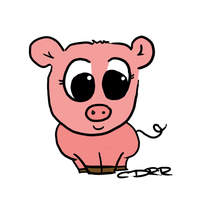 Pig for 'Nonners' by Nettle-o