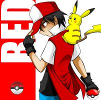 Red trainer pokemon by JagoDibuja