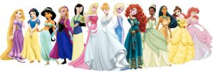 Official Disney Princess Line Up by johngreeko