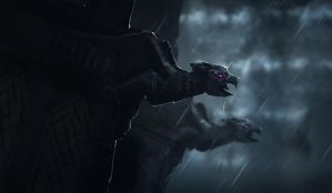 SpitPaint_Gargoyle_coming_to_life by JustMick