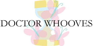 Doctor Whooves logo, Fluttershy variant by Alkonium