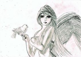 Angel of Snow by Jantaria