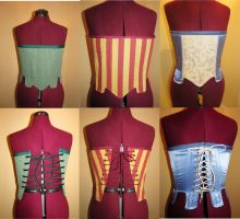 Elizabethan Tabbed Corsets by jjnshane