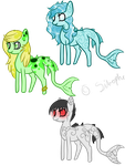 Sea Pony Adoptables Batch 1 OPEN by Sitrophe