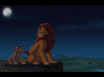 king and cub by LeonessKLN