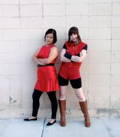 Claire Redfield and Ada Wong by evil-hikari66