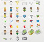 40 Soccer / Football icons by etnocad