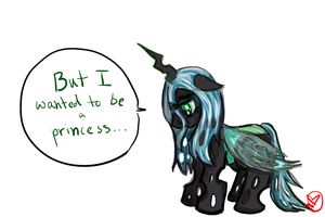Filly Queen Chrysalis by RyuRedwings