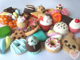 Clay sweets charms by Amphany