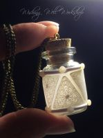 Polymer Clay Translucent Bottle by missfinearts